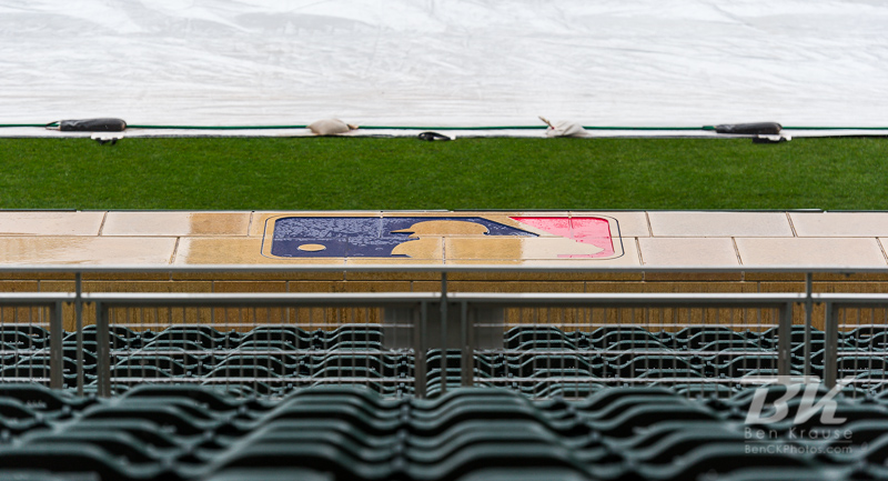 Rain postponed the game between the Kansas City Royals and Minnesota Twins at Target Field in Minneapolis, Minnesota on April 28, 2012. Photo: © Ben Krause 2012