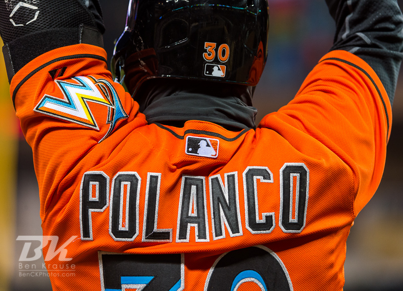 Placido Polanco #30 of the Miami Marlins waits on-deck against the Minnesota Twins in Game 2 of a split doubleheader on April 23, 2013 at Target Field in Minneapolis, Minnesota.  The Marlins defeated the Twins 8 to 5.  Photo: Ben Krause