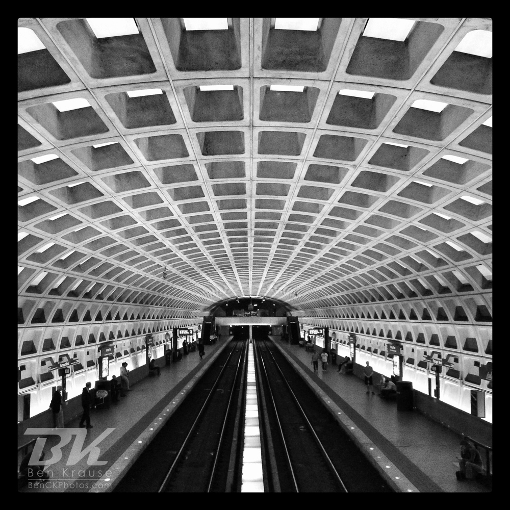 An Instagram of one of the Washington D.C. Metro rail stations.  Photo by Ben Krause