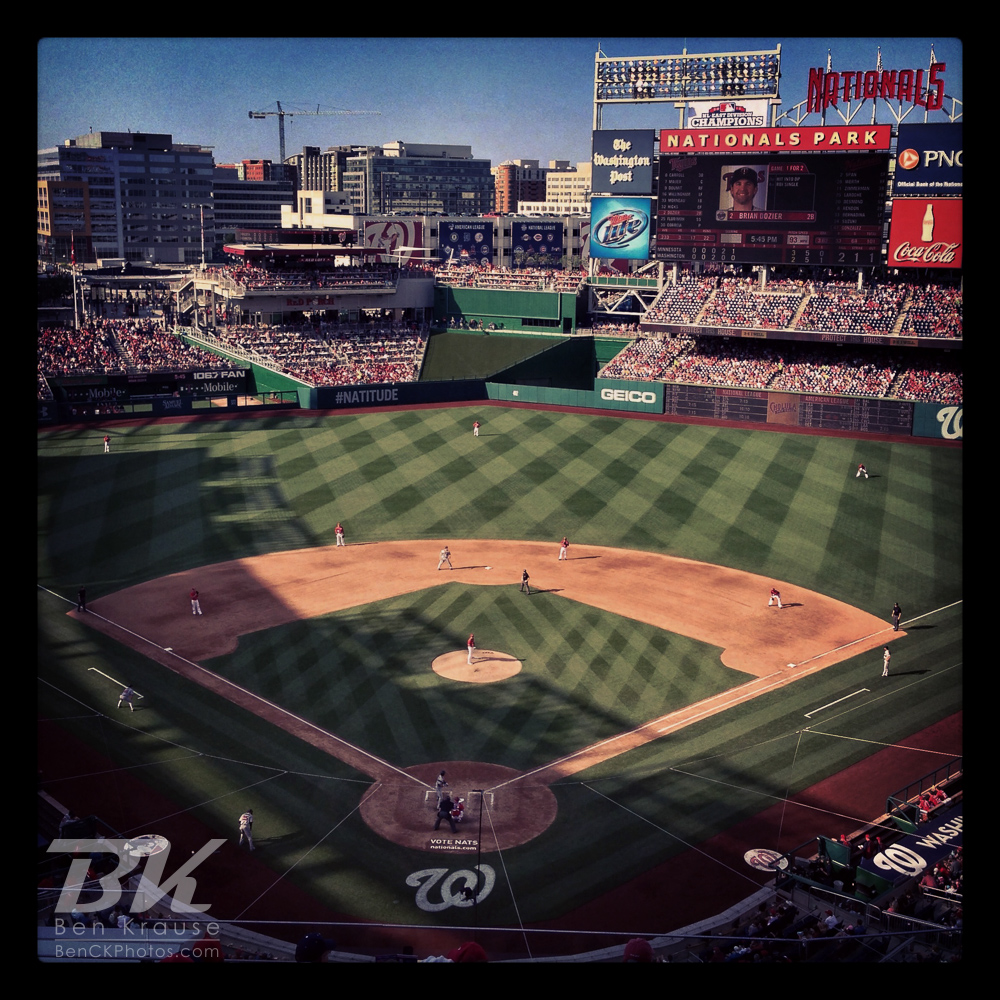 An Instagram of Nationals Park in Washington D.C.  Photo by Ben Krause