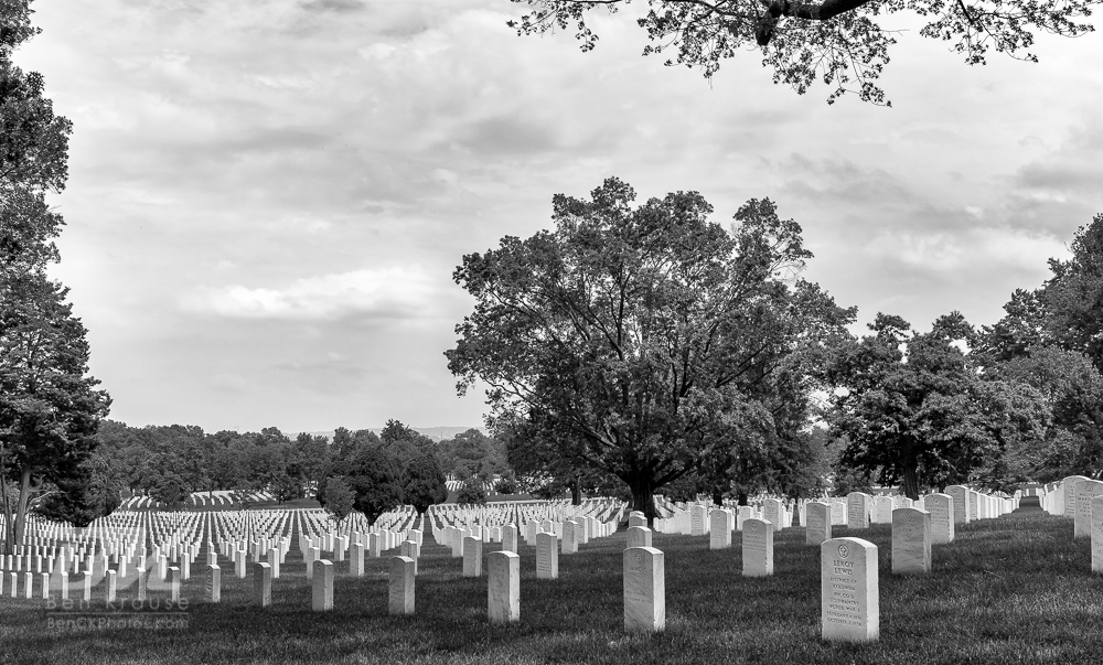 Tombstones in Arlington National Cemetery on June 9, 2013.  Photo by Ben Krause