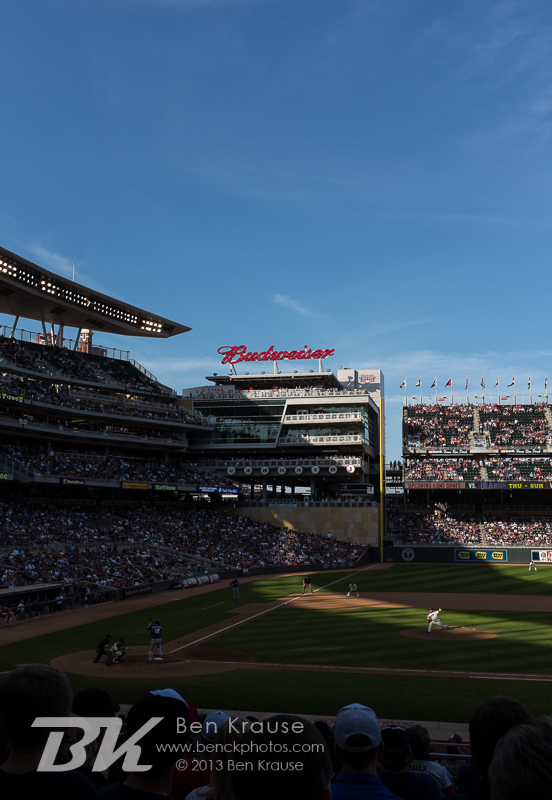 A general view of Target Field on April 27, 2013 at Target Field in Minneapolis, Minnesota.  Photo: Ben Krause