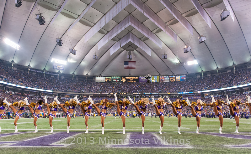 Minnesota Vikings vs. Green Bay Packers on October 27, 2013 at Mall of America Field in Minneapolis, Minnesota.  Photo by Ben Krause/Minnesota Vikings
