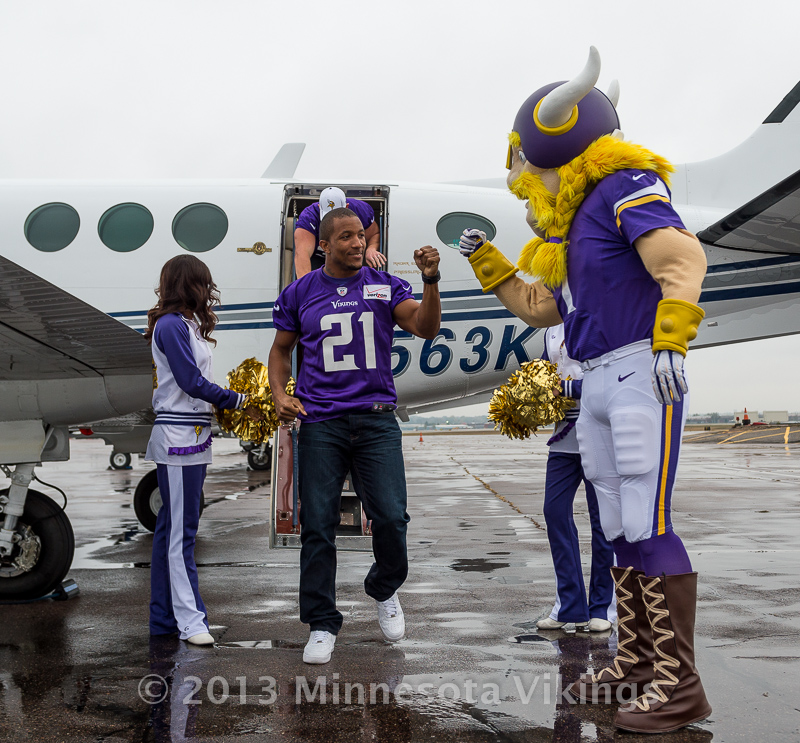 Minnesota Vikings and Sanford Health community event on October 29, 2013 at Sanford Fieldhouse in Sioux Falls, South Dakota.  Photo by Ben Krause/Minnesota Vikings