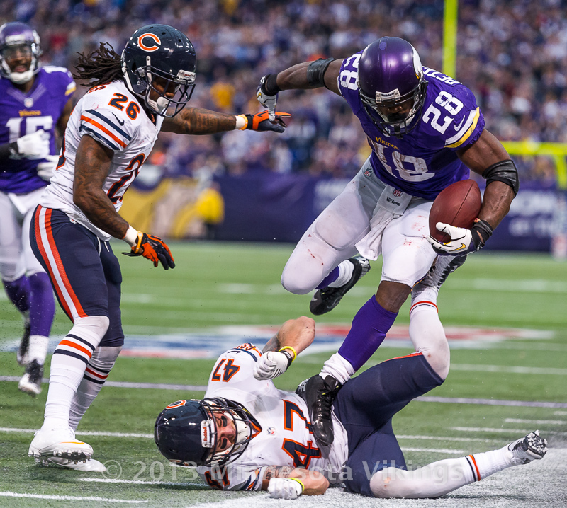 Minnesota Vikings vs. Chicago Bears on December 1, 2013 at Mall of America Field in Minneapolis, Minnesota.  Photo by Ben Krause/Minnesota Vikings
