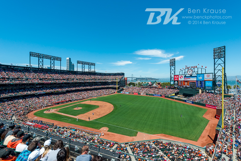 AT&T Park in San Francisco, California on May 25, 2014.  Photo by Ben Krause