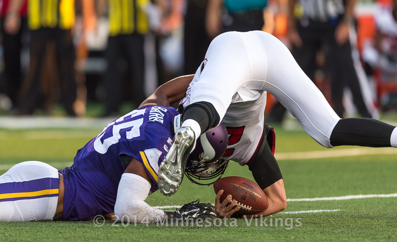 Minnesota Vikings vs. Atlanta Falcons on September 28, 2014 at TCF Bank Stadium in Minneapolis, Minnesota.  Photo by Ben Krause/Minnesota Vikings