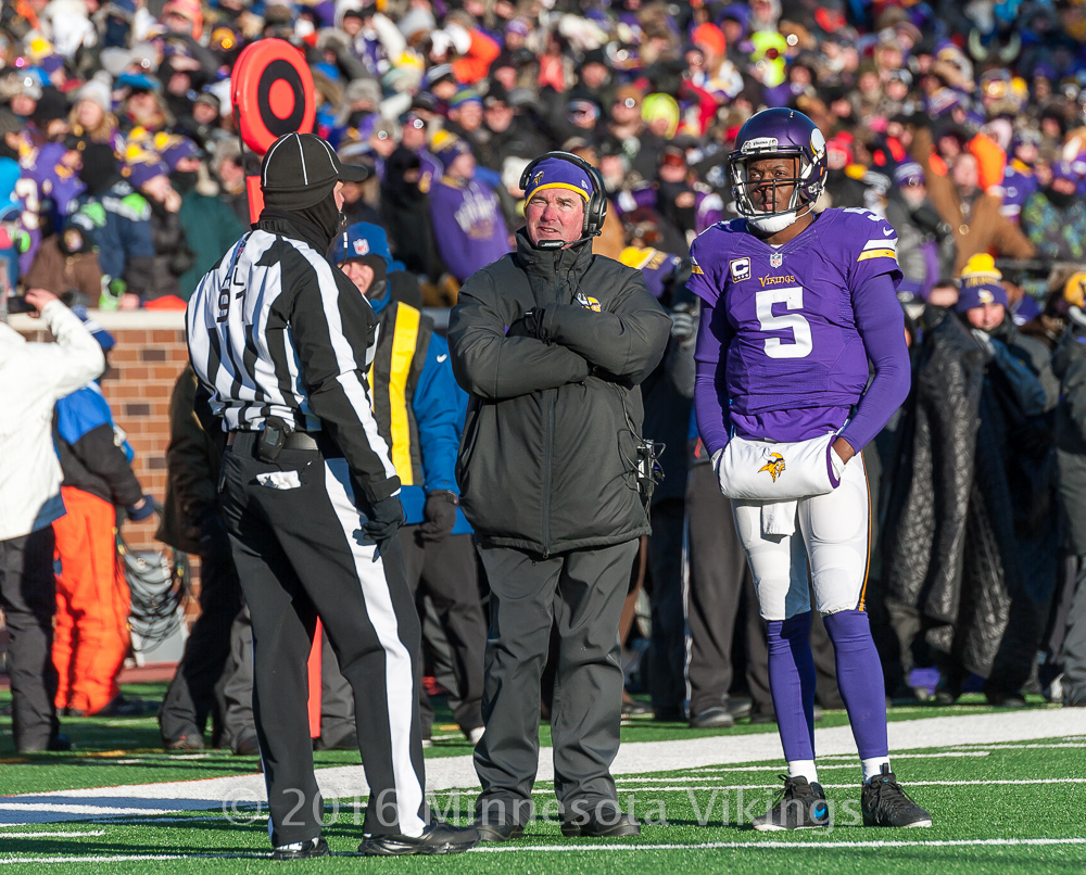 Minnesota Vikings vs. Seattle Seahawks on January 10, 2016 at TCF Bank Stadium in Minneapolis, Minnesota.  Photo by Ben Krause/Minnesota Vikings