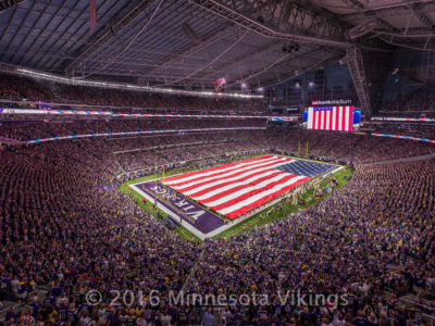 1872First Official Minnesota Vikings Game at U.S. Bank Stadium, September 18, 2016