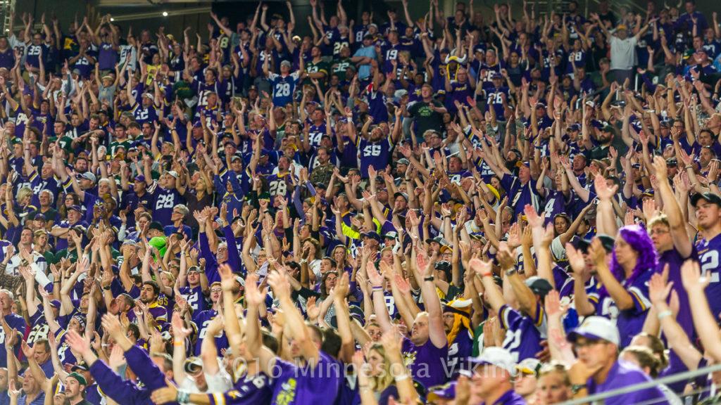 Minnesota Vikings vs. Green Bay Packers on September 18, 2016 at U.S. Bank Stadium in Minneapolis, Minnesota.  This was the inaugural game at U.S. Bank Stadium.  Photo by Ben Krause/Minnesota Vikings